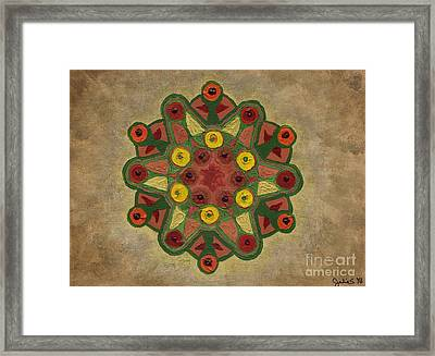Mandala 2134 Framed Print by Julia Stubbe