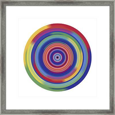 Mandala 3 Framed Print by Rozita Fogelman