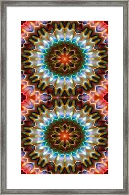 Mandala 79 For Iphone Double Framed Print by Terry Reynoldson
