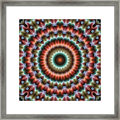Mandala 86 Framed Print by Terry Reynoldson