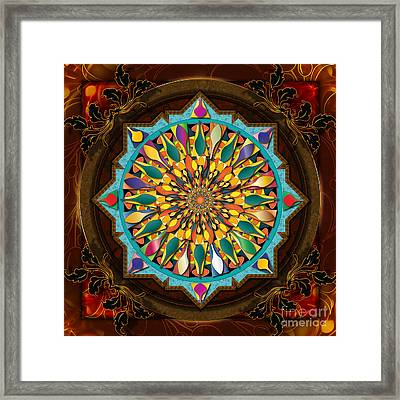 Mandala Droplets Framed Print by Bedros Awak