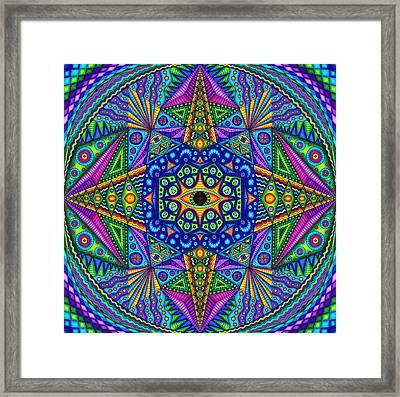 Mandala Madness Framed Print by Matt Molloy
