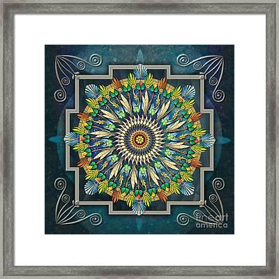 Mandala Night Wish Framed Print by Bedros Awak
