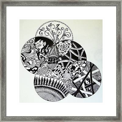 Mandalas Framed Print by Lori Thompson