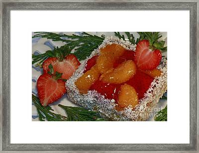 Mandarin And Strawberry Surprise Framed Print by Inspired Nature Photography Fine Art Photography