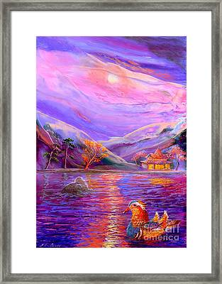 Mandarin Dream Framed Print by Jane Small