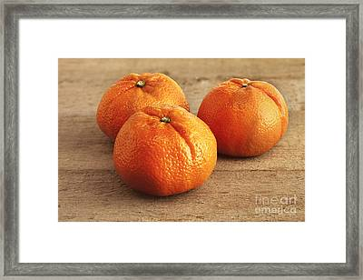 Mandarin Oranges Framed Print by Colin and Linda McKie