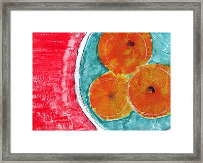 Mandarins Framed Print by Linda Woods
