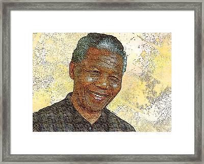 Mandela Framed Print by Anthony Caruso