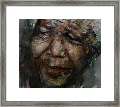 Mandela   Framed Print by Paul Lovering