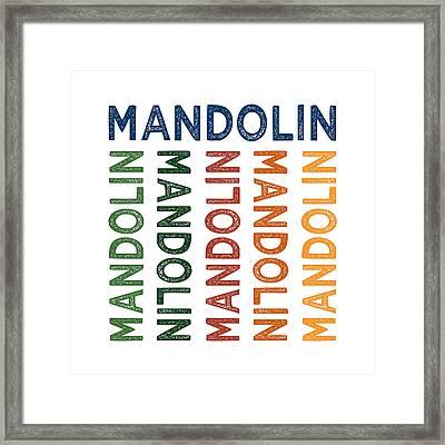 Mandolin Cute Colorful Framed Print by Flo Karp