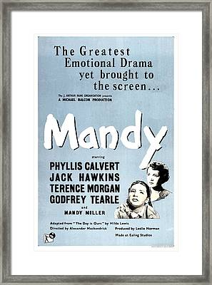 Mandy, Aka Crash Of Silence, Us Poster Framed Print by Everett
