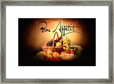 Mangia Mangia Framed Print by Lourry Legarde