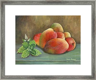 Mango And Mint Framed Print by Trister Hosang