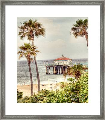 Manhattan Beach Pier Framed Print by Juli Scalzi