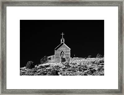Manhattan Church Framed Print by Cat Connor