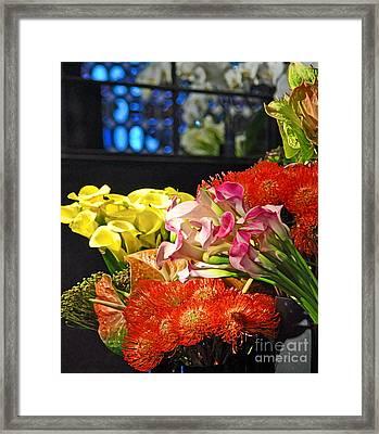 Manhattan Florist Framed Print by Gwyn Newcombe