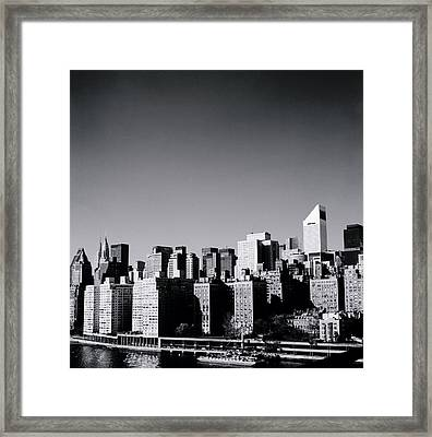 Manhattan Framed Print by Shaun Higson