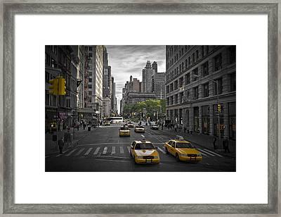 Manhattan Streetscene Framed Print by Melanie Viola