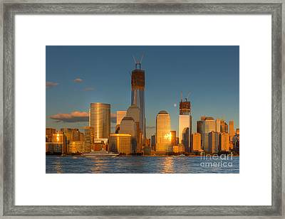 Manhattan Sunset Reflections IIi Framed Print by Clarence Holmes