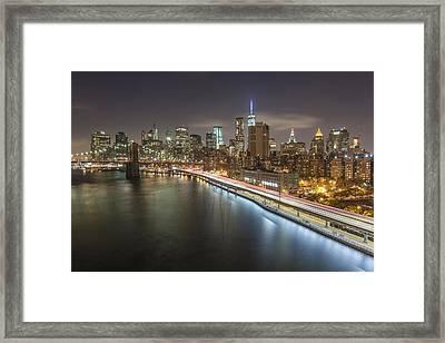 Manhattan Trails - 2  Framed Print by Michelle Neacy