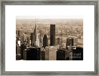 Manhattan Vintage  Framed Print by RicardMN Photography