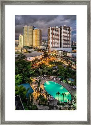 Manila City Framed Print by Adrian Evans
