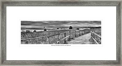 Manistique Lakefront Framed Print by Twenty Two North Photography