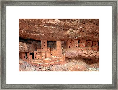 Manitou Cliff Dwellings Framed Print by Christine Till