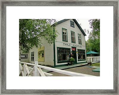 Manley Hot Springs Roadhouse Framed Print by Lisa Dunn