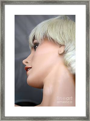 Mannequin Art - Blonde Female Mannequin Face  Framed Print by Kathy Fornal
