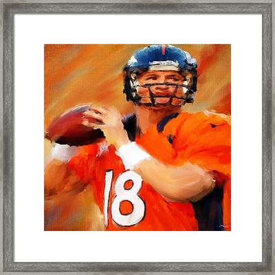 Manning Framed Print by Lourry Legarde