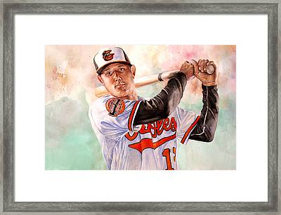 Manny Machado Framed Print by Michael  Pattison
