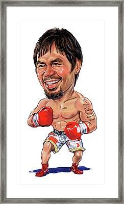 Manny Pacquiao Framed Print by Art