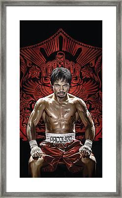 Manny Pacquiao Artwork 1 Framed Print by Sheraz A