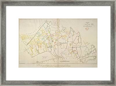 Manor Of Stanwell Framed Print by British Library