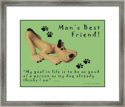 Mans Best Friend Framed Print by Barbara Snyder