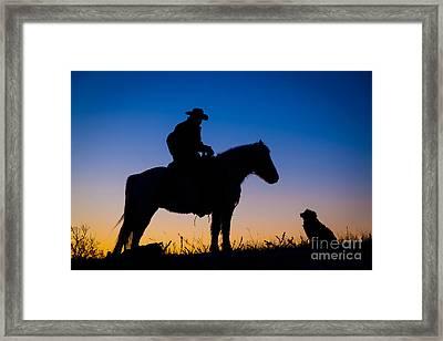 Man's Best Friend Framed Print by Inge Johnsson