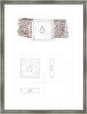 Man's Solitaire 2 Framed Print by Giuliano Capogrossi Colognesi