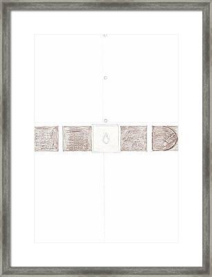 Man's Solitaire Framed Print by Giuliano Capogrossi Colognesi