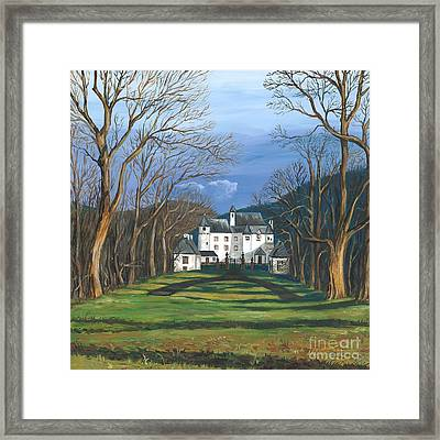 Mansion In The Woods Framed Print by Margaryta Yermolayeva