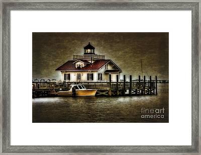 Manteo Harbor At Dusk Framed Print by  Gene  Bleile Photography