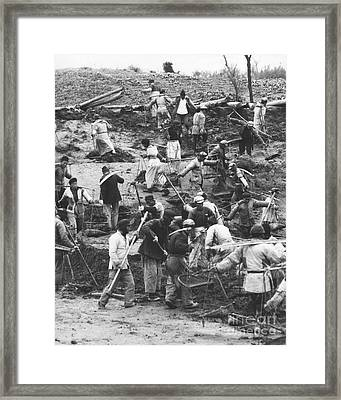 Manual Labor In China 1957 Framed Print by The Phillip Harrington Collection