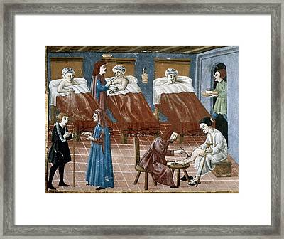 Manuscript Gaddiano Circa 1542. Doctors Framed Print by Everett