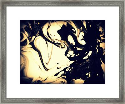 Many Faces Amongst One Skull Framed Print by Mlle Marquee