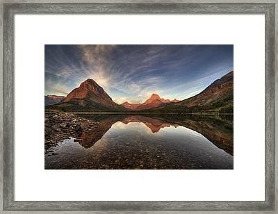 Many Glacier Zen Framed Print by Mark Kiver