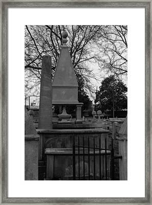 Many Tombstones Framed Print by Robert Hebert