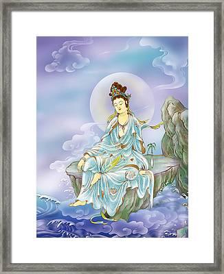 Many Treasures Avalokitesvara  Framed Print by Lanjee Chee