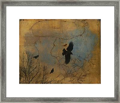 Map It Out Framed Print by Gothicolors Donna Snyder