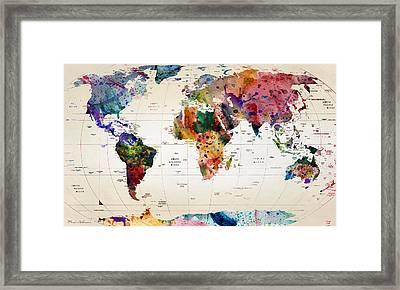 MAP Framed Print by Mark Ashkenazi